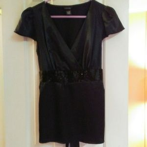 Maurices Beaded Tie Back Tunic